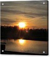 Sunset And Pond Reflection Acrylic Print
