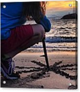Sunset And Sand Art Acrylic Print by Brian Maloney