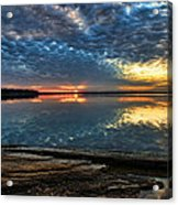 Sunset And Shale Acrylic Print