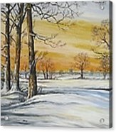 Sunset And Snow Sold Acrylic Print