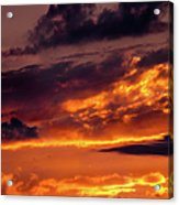 Sunset And Storm Clouds Acrylic Print