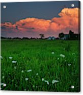 Sunset At A Farm Near Hawkesbury Acrylic Print