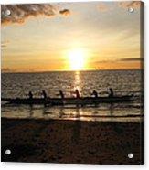 Sunset At Anaeho'omalu Bay Acrylic Print