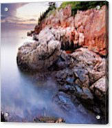 Sunset At Bass Harbor Lighthouse Acrylic Print