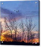 Sunset At Black Burn Acrylic Print
