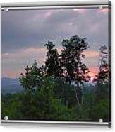 Sunset At Brasstown Bald Acrylic Print