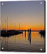 Sunset At Burlington Bay - Vermont Acrylic Print