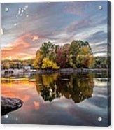 Sunset At Cambridge Reservoir Acrylic Print