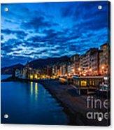 Sunset At Camogli In Liguria - Italy Acrylic Print