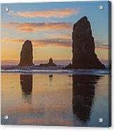 Sunset At Cannon Beach Acrylic Print