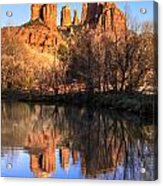 Sunset At Cathedral Rock In Sedona Az Acrylic Print by Teri Virbickis