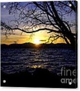 Sunset At Cave Rock Acrylic Print