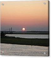 Sunset At Chincoteague Channel Acrylic Print