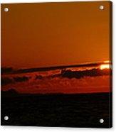 Sunset At Clallam Bay Acrylic Print