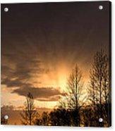 Sunset At Columbia River Gorge Oregon Acrylic Print