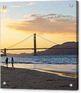 Sunset At Crissy Field With Golden Gate Bridge San Francisco Ca 5 Acrylic Print