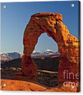 Sunset At Delicate Arch Acrylic Print