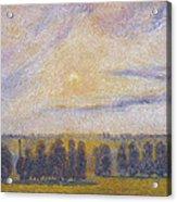 Sunset At Eragny, 1890 Acrylic Print