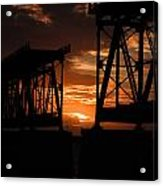 Sunset At Flagler Bridge 2 Acrylic Print
