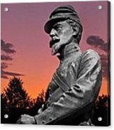 Sunset At Gettysburg  Acrylic Print