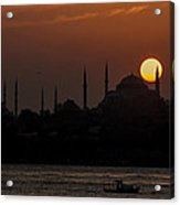 Sunset At Historical Peninsula In Istanbul Acrylic Print