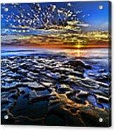 Sunset At La Jolla Tide Pools Acrylic Print by Peter Dang