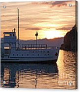 Sunset At Lake Ohrid Acrylic Print