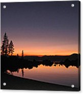 Sunset At Lake Tahoe Acrylic Print