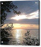 Sunset At Lake Winnipeg Acrylic Print