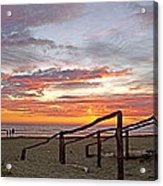 Sunset At Las Glorias Over Sea Of Cortez-sinaloa Acrylic Print