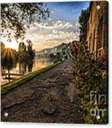 Sunset at Les Andelys Acrylic Print