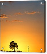 Sunset At Long Pine Key Vertical Acrylic Print by Andres Leon