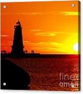 Sunset At Ludington Acrylic Print