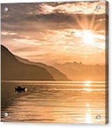 Sunset At Lyngenfjord Acrylic Print