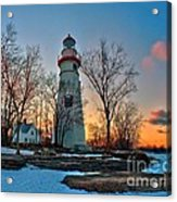 Sunset At Marblehead Lighthouse Acrylic Print