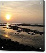 Sunset At Marine Drive Acrylic Print
