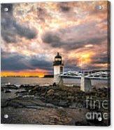 Sunset At Marshall Point Acrylic Print