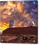 Sunset At Mauna Kea Summit Acrylic Print