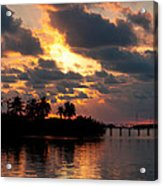 Sunset At Mitchells Keys Villas Acrylic Print by Michelle Wiarda