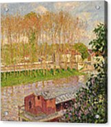 Sunset At Moret Sur Loing Acrylic Print by Camille Pissarro
