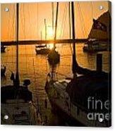 Sunset At Morro Bay Acrylic Print