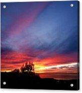 Sunset At Mount Carmel  Haifa 01 Acrylic Print