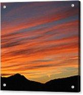 Sunset At Mt. Ord Acrylic Print