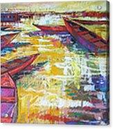 Sunset At Mums Acrylic Print
