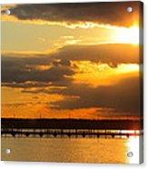 Sunset At National Harbor Acrylic Print