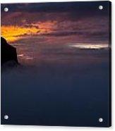 Sunset At Nevado Del Ruiz Acrylic Print