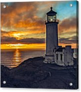 Sunset At North Head Acrylic Print by Robert Bales