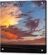 Sunset At Pacific City Acrylic Print