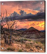 Sunset At Painted Hills In Oregon Acrylic Print