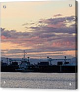 Sunset At Port Angeles Acrylic Print
